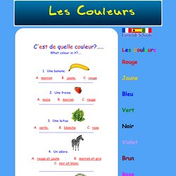 Euroclub Schools Quiz Website - Les Couleurs