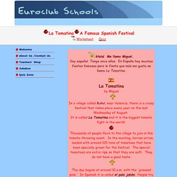 Euroclub Schools - Spanish Festivals
