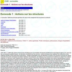Eurocode 1 - bases de calcul et actions sur les structures