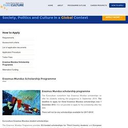 Euroculture Erasmus Mundus scholarships