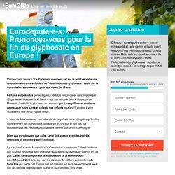 Stoppons le glyphosate au Parlement Eutopéen
