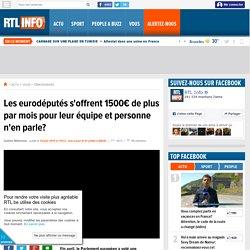 Les eurodéputés s'offrent 1500€ de plus par mois pour leur équipe et personne n'en parle?
