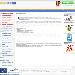 France: Accueil / Reséau Eurodesk / Eurodesk en France