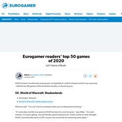 readers' top 50 games of 2020