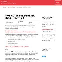 Nos notes sur l'EuroIA 2012 - Partie 3 - Agence UX Usabilis