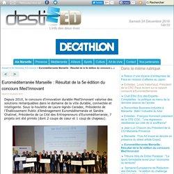 Euroméditerranée Marseille : Résultat de la 5e édition du concours