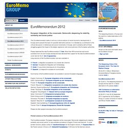 Group - EuroMemorandum 2012