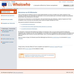 EU Who is who