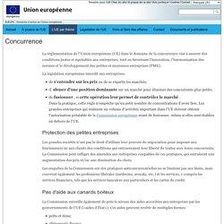 EUROPA - Action de l'Union européenne – Concurrence