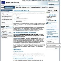 Financements et aides de l'UE