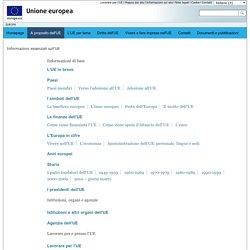 Informazioni essenziali sull'UE
