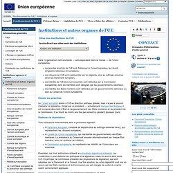 EUROPA – Institutions et autres organes de l'UE
