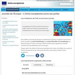 Journée de l'Europe – Journée «portes ouvertes» dans les institutions de l'UE