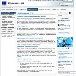 Législation de l'UE, traités et procédures législatives en cours