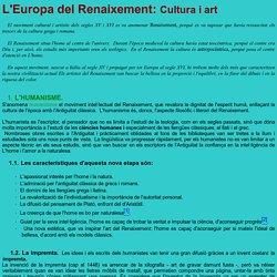L'Europa del Renaixement: Cultura i art