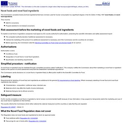 List of Applications for authorisation of a novel food