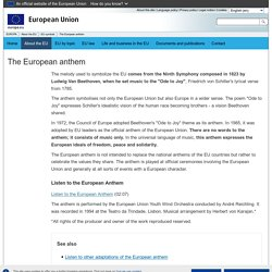 EUROPA - The European anthem