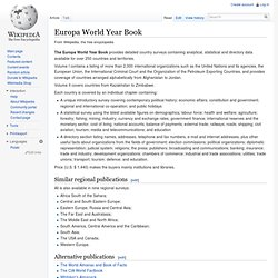 Europa World Year Book