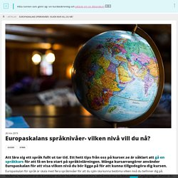 Europaskalans språknivåer- vilken nivå vill du nå?