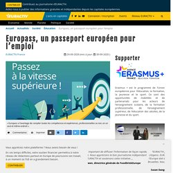 Europass, un passeport européen pour l'emploi