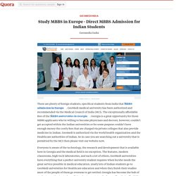 Study MBBS in Europe - Direct MBBS Admission fo... - geomediindia - Quora