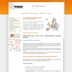 MSDS-Europe - A real alternative to an MSDS software