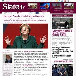 Europe: Angela Merkel face à l'histoire