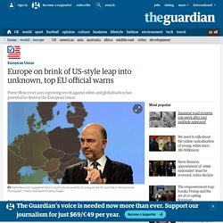 Europe on brink of US-style leap into unknown, top EU official warns