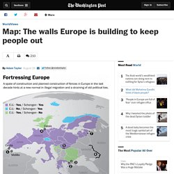 Map: The walls Europe is building to keep people out