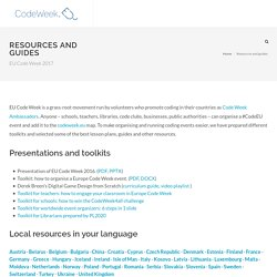 Europe Code Week 2015 - Resources and guides