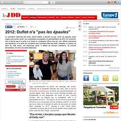 """2012: Duflot n'a """"pas les épaules"""" - Europe Ecologie Verts Cécile Duflot Eva Joly"""