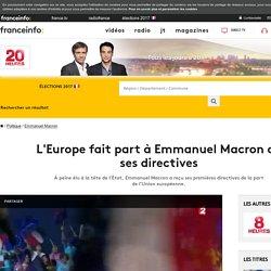 L'Europe fait part à Emmanuel Macron de ses directives