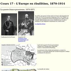 L'Europe en ébullition, 1870-1914