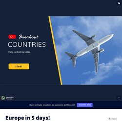 Europe in 5 days! by In English with Debbie on Genially