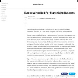 Europe A Hot Bed For Franchising Business