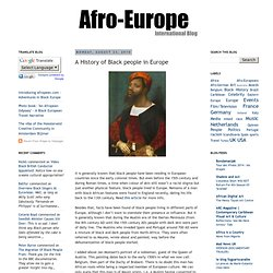 A History of Black people in Europe