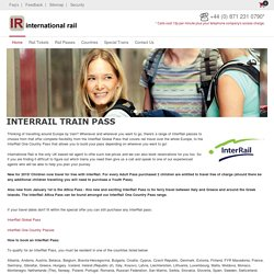 Travel europe with an interrail pass from international rail