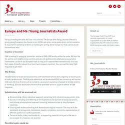 Europe and Me: Young Journalists Award
