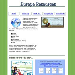 Europe Lesson Plans and Resources