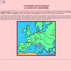 L'Europe linguistique à l'aube de l'Histoire