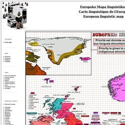 Europe - Carte linguistique / Linguistic map