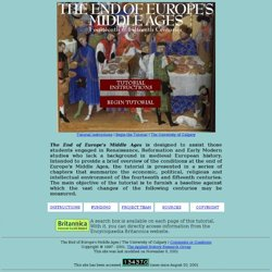 End of Europe's Middle Ages - Home Page