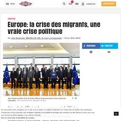 Europe: la crise des migrants, une vraie crise politique