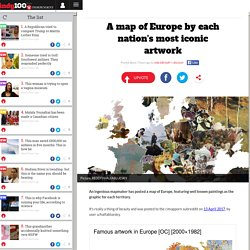 A map of Europe by each nation's most iconic artwork