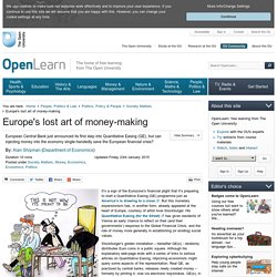 Europe's lost art of money-making