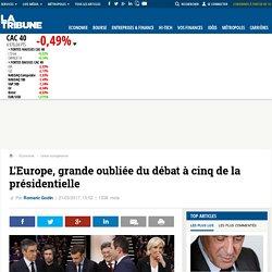 L'Europe, grande oubliée du débat à cinq de la présidentielle
