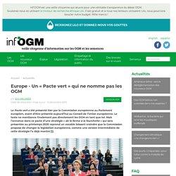 Europe - Un « Pacte vert » qui ne nomme pas les OGM