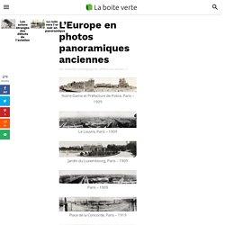 L'Europe en photos panoramiques anciennes