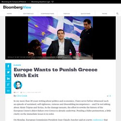 Europe Wants to Punish Greece With Exit