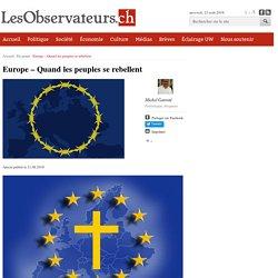 Europe - Quand les peuples se rebellent
